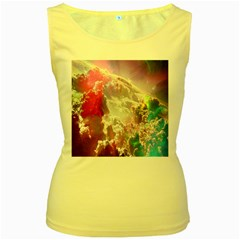 Clouds Multicolor Fantasy Art Skies Women s Yellow Tank Top
