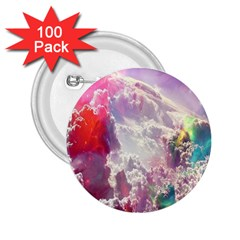 Clouds Multicolor Fantasy Art Skies 2 25  Buttons (100 Pack)