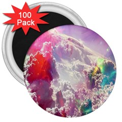Clouds Multicolor Fantasy Art Skies 3  Magnets (100 Pack)