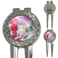 Clouds Multicolor Fantasy Art Skies 3 In 1 Golf Divots