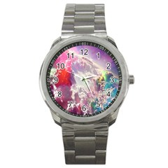 Clouds Multicolor Fantasy Art Skies Sport Metal Watch