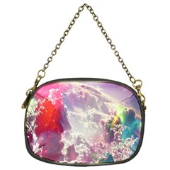 Clouds Multicolor Fantasy Art Skies Chain Purses (one Side)