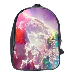 Clouds Multicolor Fantasy Art Skies School Bags(large)