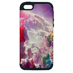 Clouds Multicolor Fantasy Art Skies Apple Iphone 5 Hardshell Case (pc+silicone)