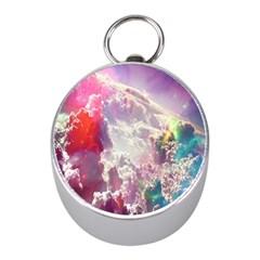 Clouds Multicolor Fantasy Art Skies Mini Silver Compasses