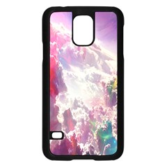 Clouds Multicolor Fantasy Art Skies Samsung Galaxy S5 Case (black)