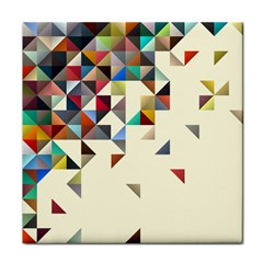 Retro Pattern Of Geometric Shapes Tile Coasters