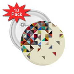Retro Pattern Of Geometric Shapes 2 25  Buttons (10 Pack)