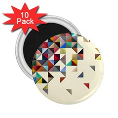 Retro Pattern Of Geometric Shapes 2 25  Magnets (10 Pack)