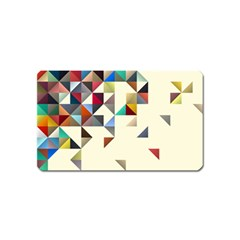 Retro Pattern Of Geometric Shapes Magnet (name Card)