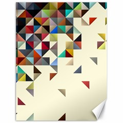 Retro Pattern Of Geometric Shapes Canvas 18  X 24