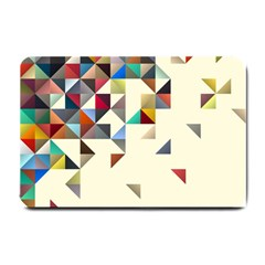 Retro Pattern Of Geometric Shapes Small Doormat