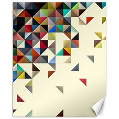 Retro Pattern Of Geometric Shapes Canvas 11  X 14