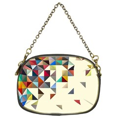 Retro Pattern Of Geometric Shapes Chain Purses (two Sides)