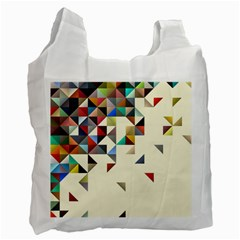 Retro Pattern Of Geometric Shapes Recycle Bag (two Side)