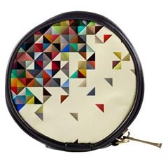 Retro Pattern Of Geometric Shapes Mini Makeup Bags