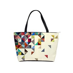 Retro Pattern Of Geometric Shapes Shoulder Handbags