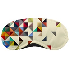 Retro Pattern Of Geometric Shapes Sleeping Masks