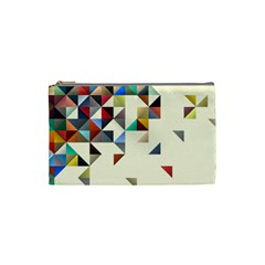Retro Pattern Of Geometric Shapes Cosmetic Bag (small)