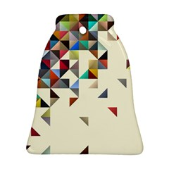 Retro Pattern Of Geometric Shapes Bell Ornament (two Sides)