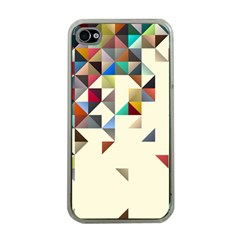 Retro Pattern Of Geometric Shapes Apple Iphone 4 Case (clear)
