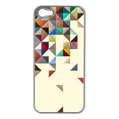 Retro Pattern Of Geometric Shapes Apple Iphone 5 Case (silver)