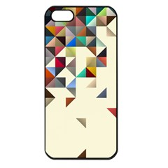 Retro Pattern Of Geometric Shapes Apple Iphone 5 Seamless Case (black)