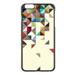 Retro Pattern Of Geometric Shapes Apple Iphone 6 Plus/6s Plus Black Enamel Case