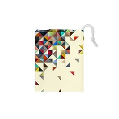 Retro Pattern Of Geometric Shapes Drawstring Pouches (xs)