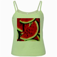 Fresh Watermelon Slices Texture Green Spaghetti Tank