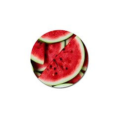 Fresh Watermelon Slices Texture Golf Ball Marker