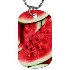 Fresh Watermelon Slices Texture Dog Tag (two Sides)
