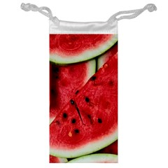 Fresh Watermelon Slices Texture Jewelry Bag