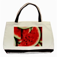 Fresh Watermelon Slices Texture Basic Tote Bag