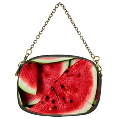 Fresh Watermelon Slices Texture Chain Purses (two Sides)