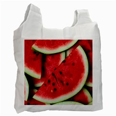 Fresh Watermelon Slices Texture Recycle Bag (one Side)