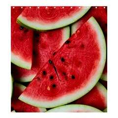 Fresh Watermelon Slices Texture Shower Curtain 66  X 72  (large)