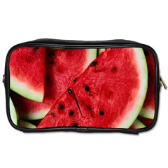 Fresh Watermelon Slices Texture Toiletries Bags 2 Side