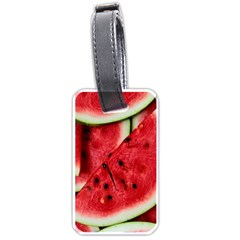 Fresh Watermelon Slices Texture Luggage Tags (one Side)