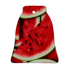 Fresh Watermelon Slices Texture Ornament (bell)