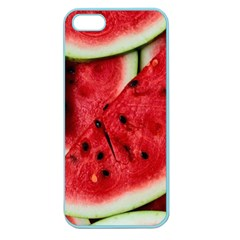 Fresh Watermelon Slices Texture Apple Seamless Iphone 5 Case (color)