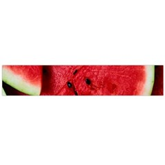 Fresh Watermelon Slices Texture Flano Scarf (large)