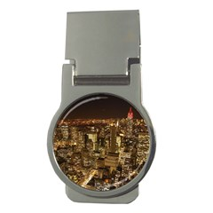 New York City At Night Future City Night Money Clips (round)