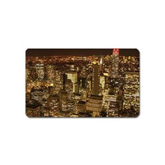 New York City At Night Future City Night Magnet (name Card)