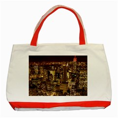New York City At Night Future City Night Classic Tote Bag (red)