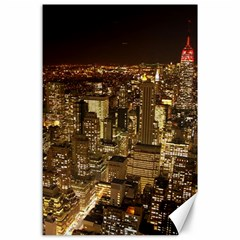 New York City At Night Future City Night Canvas 24  X 36