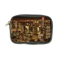 New York City At Night Future City Night Coin Purse