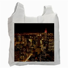 New York City At Night Future City Night Recycle Bag (two Side)