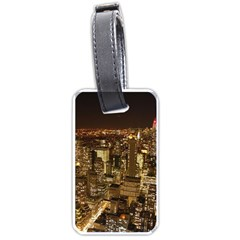 New York City At Night Future City Night Luggage Tags (two Sides)