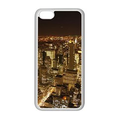 New York City At Night Future City Night Apple Iphone 5c Seamless Case (white)